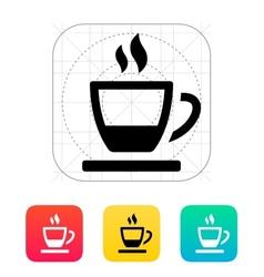 Ending tea cup icon vector