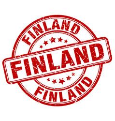 Finland red grunge round vintage rubber stamp vector
