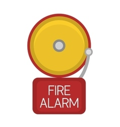 Fire alarm button icon vector image