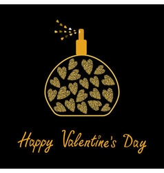 Happy Valentines Day Love card Perfume bottle with vector image vector image