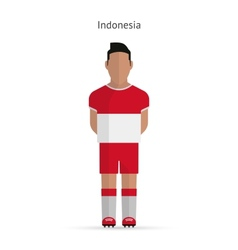 Indonesia football player soccer uniform vector