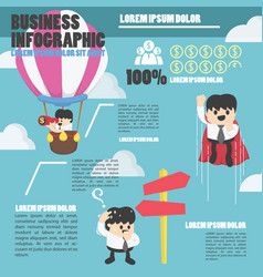 infographic businessman concept to success eps10 vector image vector image