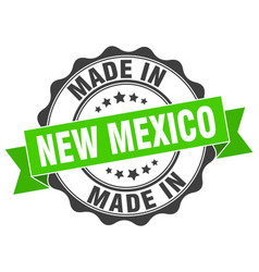 Made in new mexico round seal vector