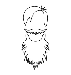Male avatar with beard icon outline style vector