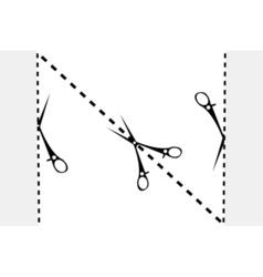 paper cut sketch vector image vector image