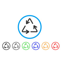 recycle rounded icon vector image vector image