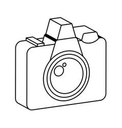 retro camera photographic isolated icon vector image