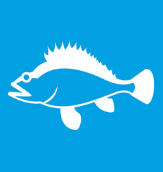 Rose fish sebastes norvegicus icon white vector