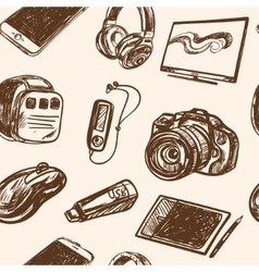 Seamless pattern smart media devices and personal vector