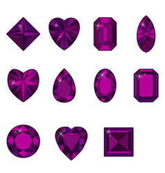 Set of diamonds of various shapes vector