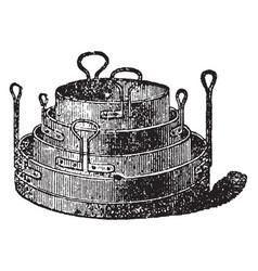 Set of sieves vintage vector