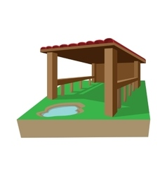 Shed cartoon icon vector image