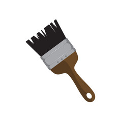 simple paintbrush drawing object graphic vector image