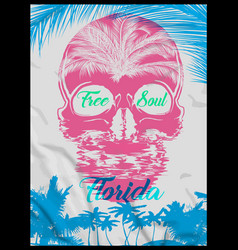 Skull summer t shirt graphic design vector