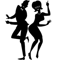 The twist couple silhouette vector
