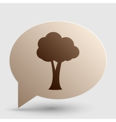 Tree sign brown gradient icon on vector