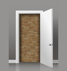 Wall behind the door vector