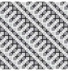 Waving Squares Optical Seamless Pattern vector image