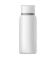 White bottle with silver line on cover isolated vector