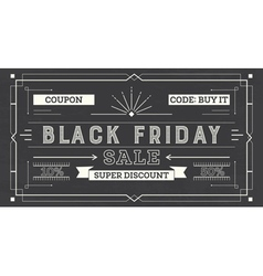 Black friday sale retro background coupon template vector