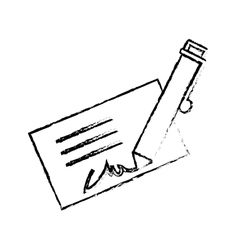 Signature and pen icon image vector