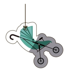 Isolatd baby stroller design vector