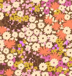 Cute vintage popcorn flowers vector image