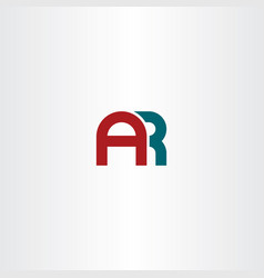 letter a and r combination ar logo icon vector image