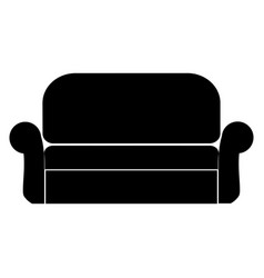 sofa the black color icon vector image