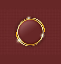 Gold ring with space for text in the middle of a vector