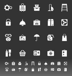 Home storage icons on gray background vector
