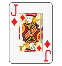 Jumbo index jack of diamonds vector