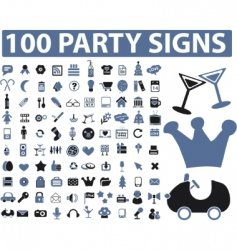 Party signs vector