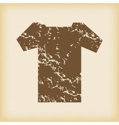 Grungy t-shirt icon vector