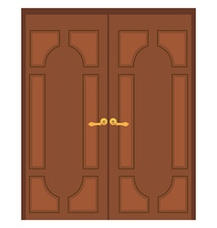 Double door vector image