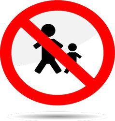 Sign no people vector
