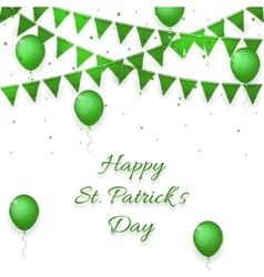 St patricks day background with balloons vector