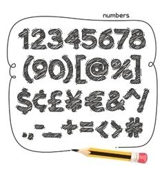 Cartoon Doodle Numbers vector image