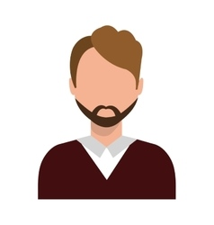 Avatar business man moustache graphic vector