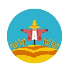 Flat icon scarecrow vector