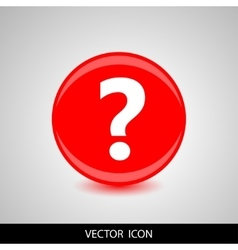 Question icon on red background vector