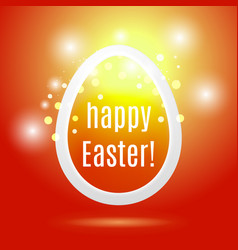 Beautiful easter egg on red background vector