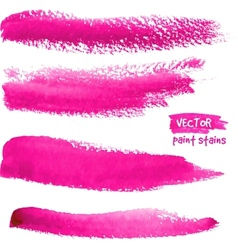 Bright pink brush strokes set vector image
