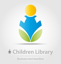 Children library business icon vector