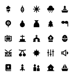 Christmas and easter icons 3 vector