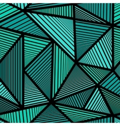 Colorful pattern with green triangle vector image vector image