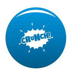 Comic boom crunch icon blue vector