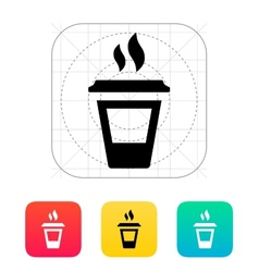 Ending coffee cup icon vector