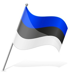 Flag of estonia vector
