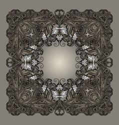 Frame entangled border grey vector